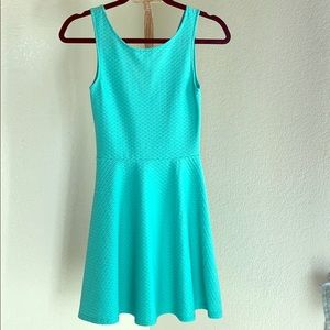 Above knee blue/green dress from Forever 21
